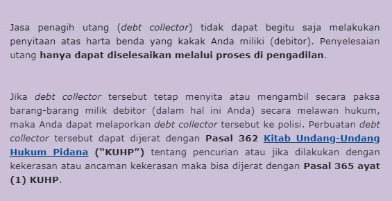 Pengalaman Mengatasi Debt Collector Kredit Pintar
